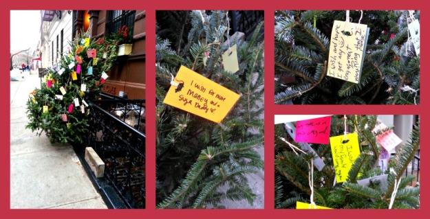 Christmas tree collage