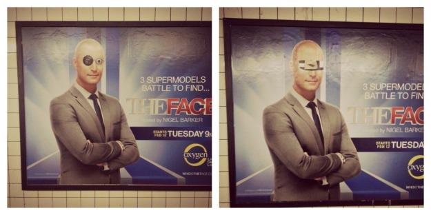 Subway ad graffiti rules