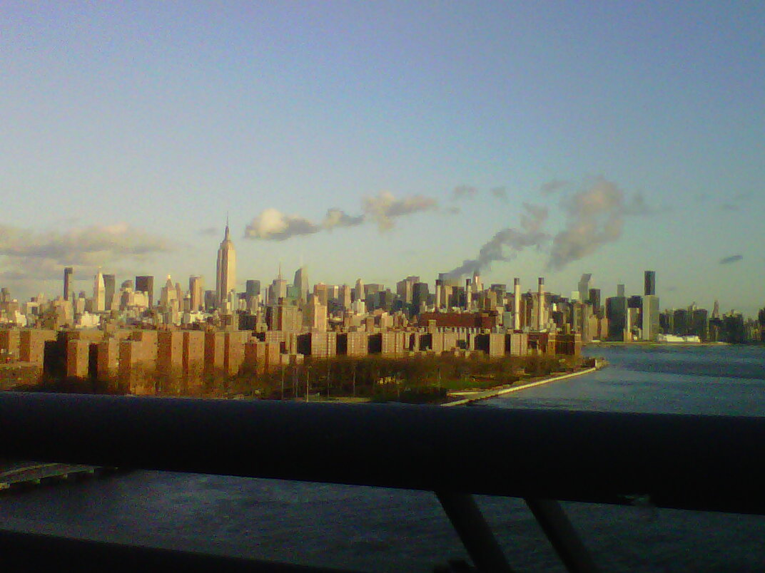 My mother's first breath after crossing the Williamsburg Bridge into ...