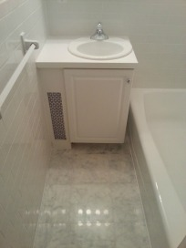 Tiny but shiny new bathroom
