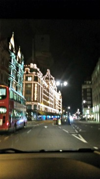 Harrod's at night
